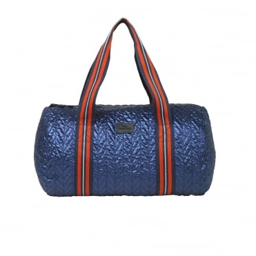 Roland Metallic Sports Bag in Classic Navy
