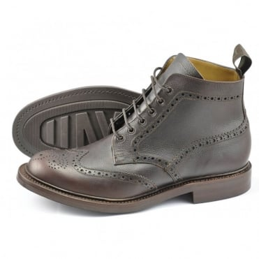 Bedale Grain Calf Brogue Boot