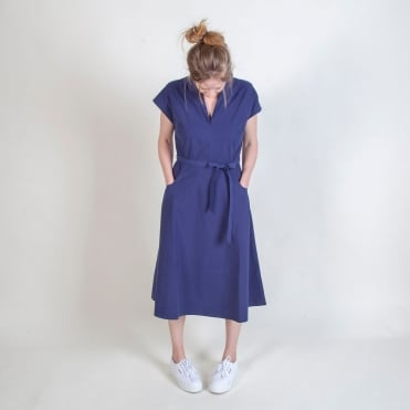 50s Vintage Style Day Dress in Blue