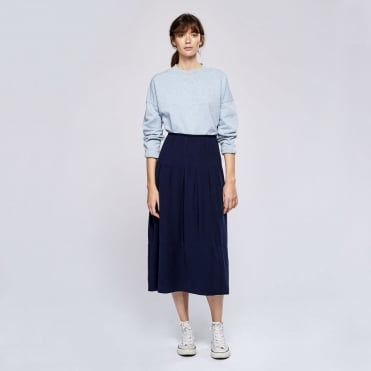 Cocoon Easy Skirt in Navy