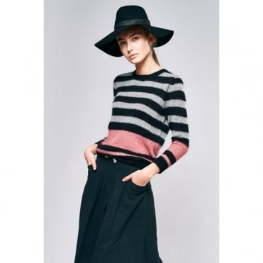 Takura Kid Mohair Mix Stripe Jumper