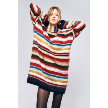 Tomida Kid Mohair Mix Stripe Long Jumper