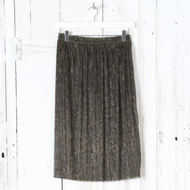 Vienna Lurex Pleat Skirt