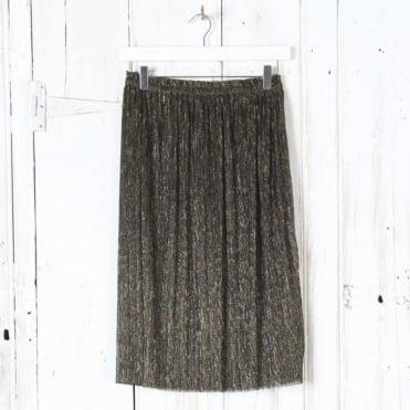 Vienna Lurex Pleat Skirt