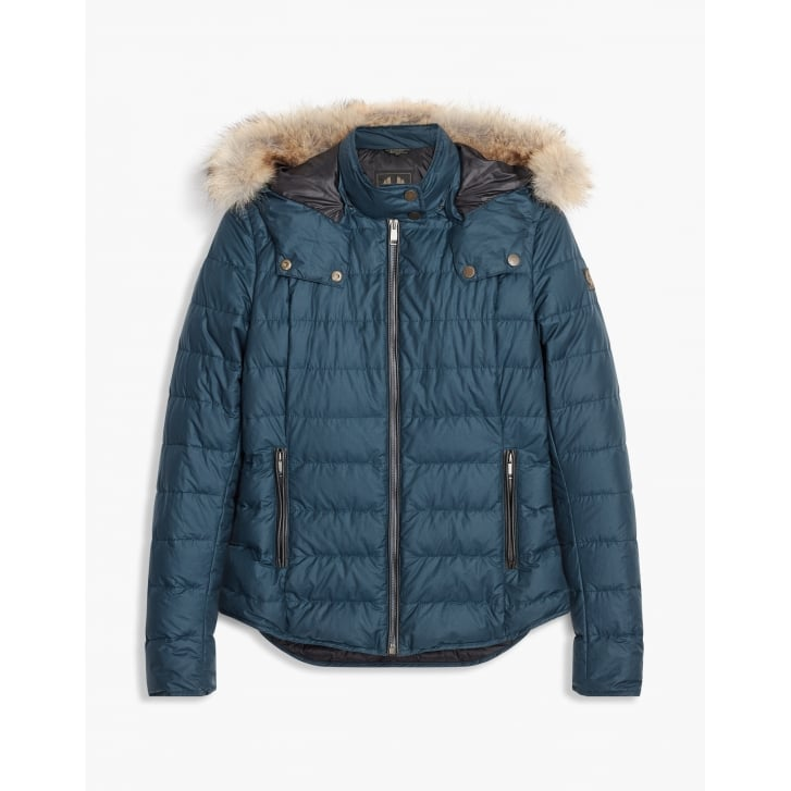 BELSTAFF Avedon Short Down Cotton Jacket with Fur