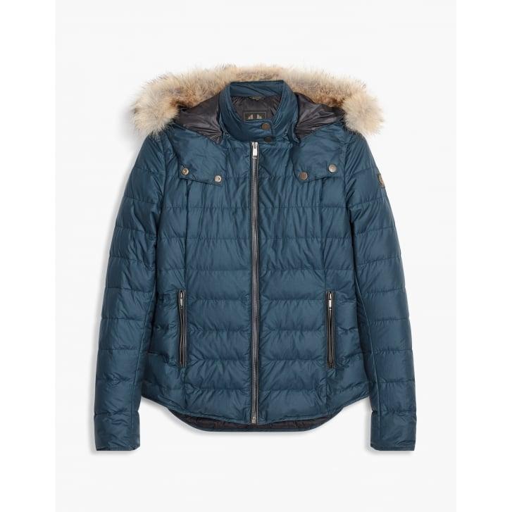 BELSTAFF Avedon Short Down Cotton Jacket with Fur