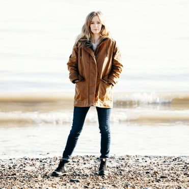 Dunraven Wax Cotton Coat in Sepia