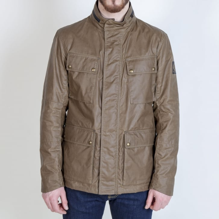BELSTAFF Explorer 4 Pocket Cotton Wax Jacket in Capers