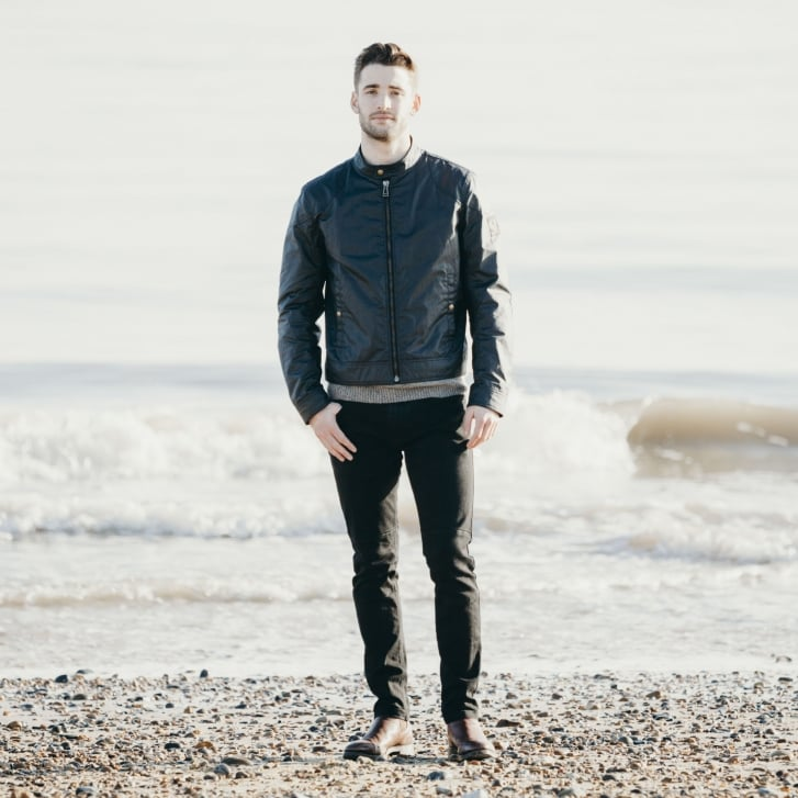 BELSTAFF Kelland Cotton Wax Cafe Racer Style Jacket in Dark Navy