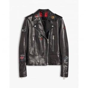 Mariner Marvingt Blouson Leather Jacket in Black