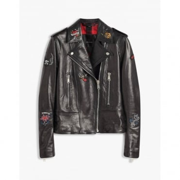 Mariner Marvingt Blouson Leather Jacket in Black