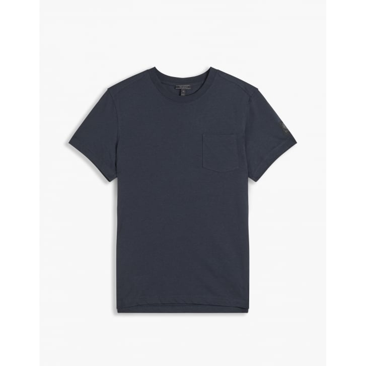 BELSTAFF New Thom Simple Pocket T Shirt in Navy