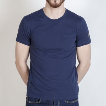 New Thom Simple Pocket T Shirt in Navy