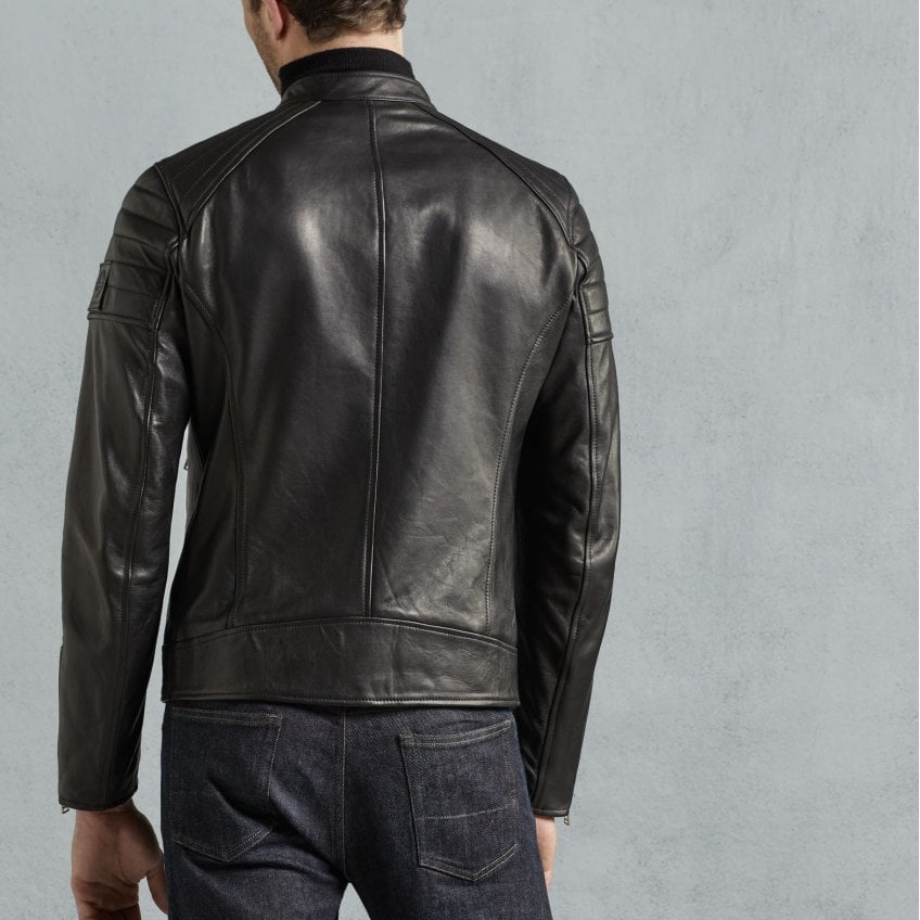 d1e11f16f Northcott Classic Leather Cafe Racer Style Jacket in Black