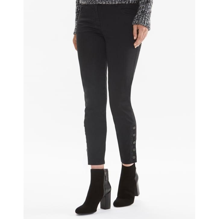 BELSTAFF Rossport Cropped Ankle Sateen Trouser in Black