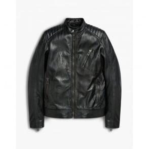 V Racer Blouson Jacket in Black