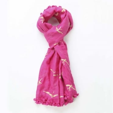 Swallow Dupatta Scarf in Hot Pink 0717