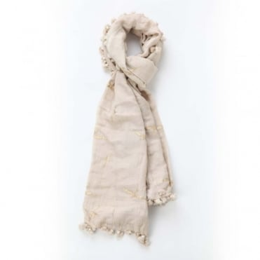 Swallow Dupatta Scarf in Natural 0717