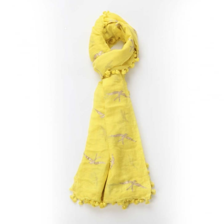 BESHLIE MCKELVIE Swallow Dupatta Scarf in Yellow 0717