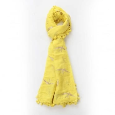 Swallow Dupatta Scarf in Yellow 0717