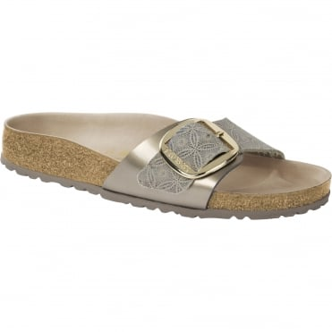 Arizona Big Buckle Sandal in Ceramic Pattern Blue