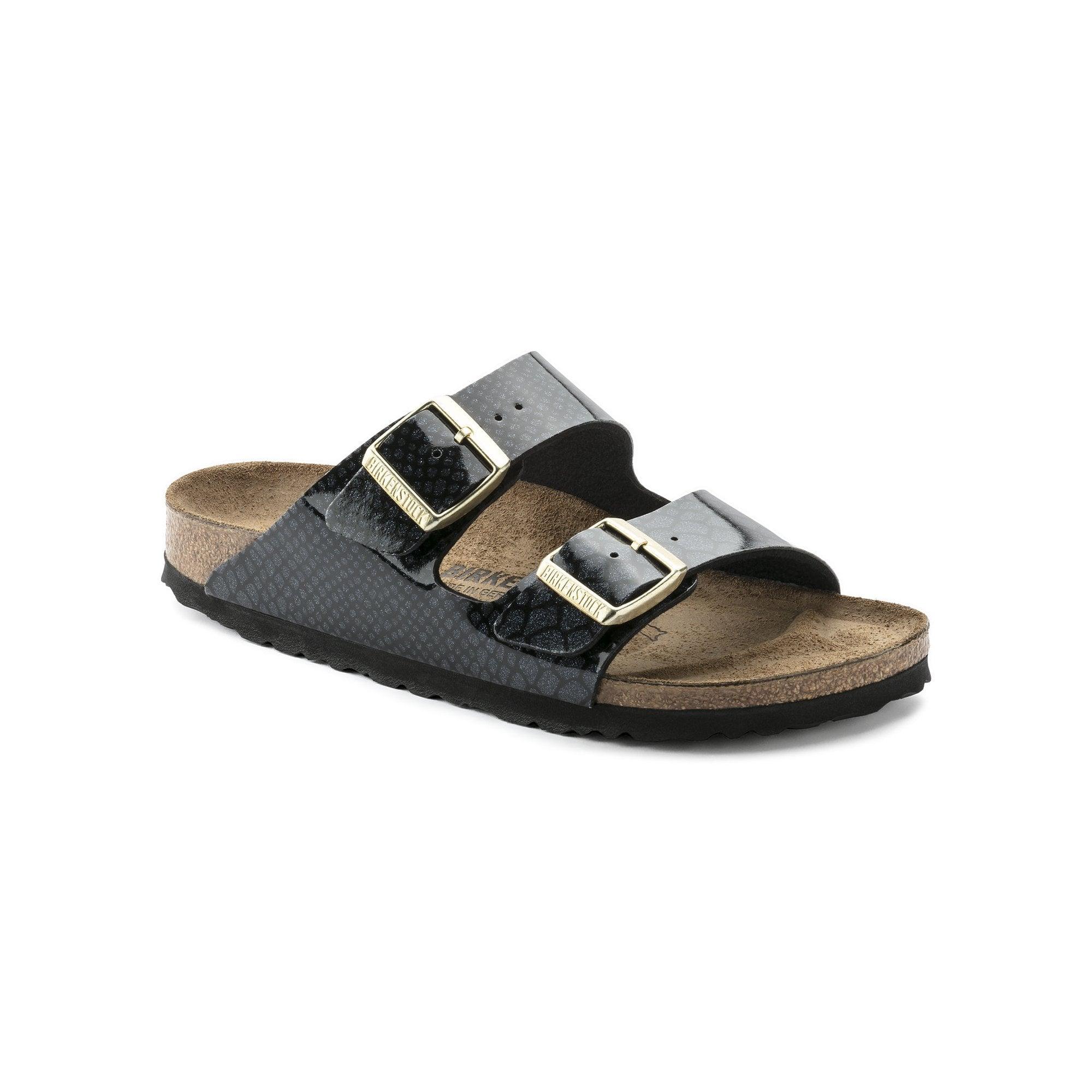 22bf42a2a9c8 Birkenstock Arizona Birko-Flor Sandals In Magic Snake Black
