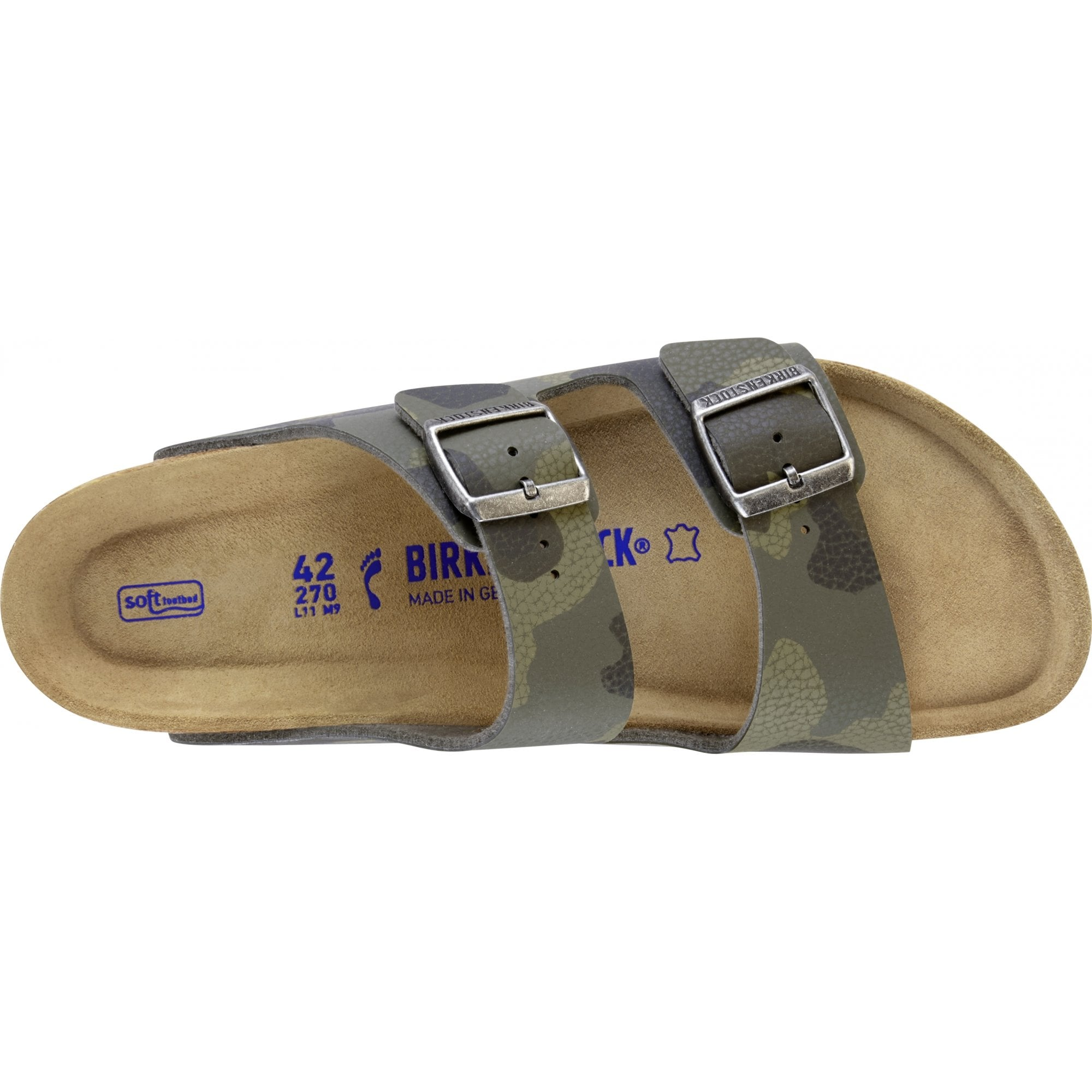 77a6cbd84303 Birkenstock Arizona Soft Footbed Sandals In Camouflage Green ...