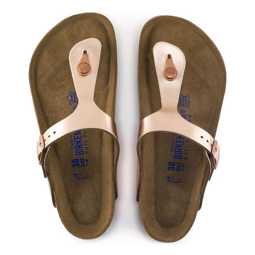 fac33b99d38 Gizeh Soft Footbed Sandals in Metallic Copper