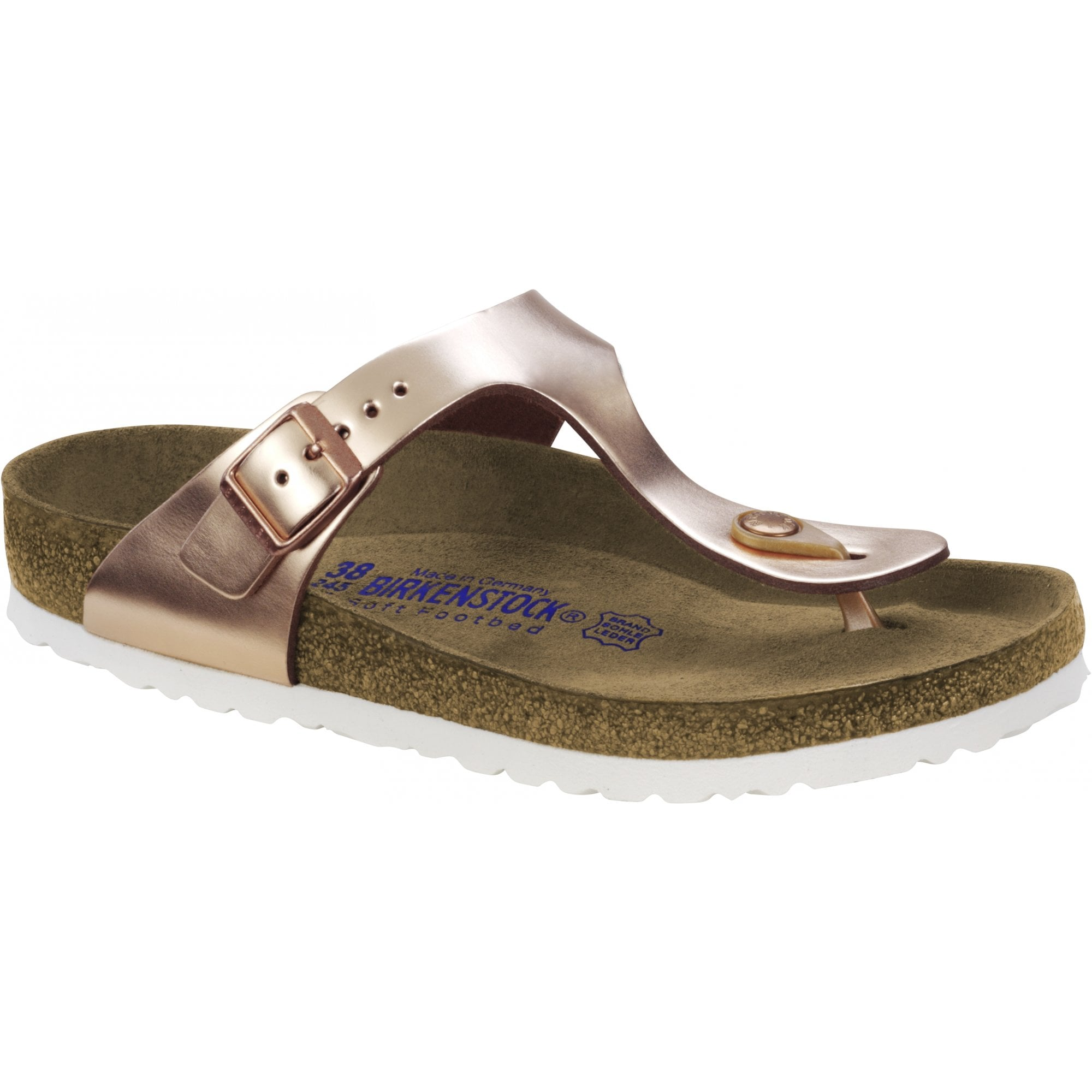 sneakers for cheap 3d010 23f25 Gizeh Soft Footbed Sandals in Metallic Copper