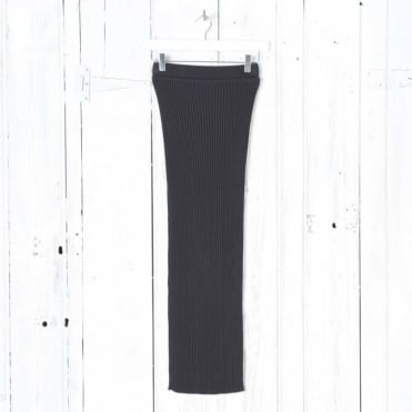 Wool Pleated Maxi Skirt