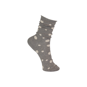 Glitter Dot Sock in Grey
