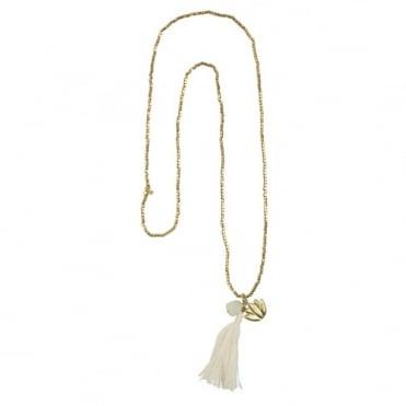 Bloom Rainbow Lotus Moonstone Necklace