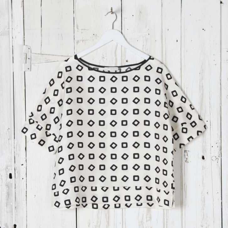 BEATRICE B Blouse with Square Pattern