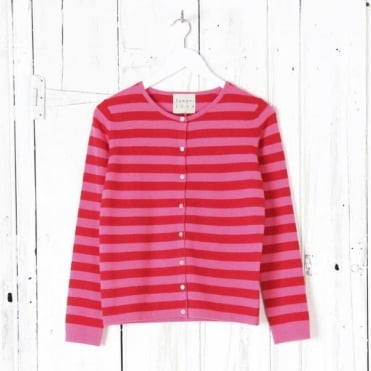 Boxy Stripe Cardigan