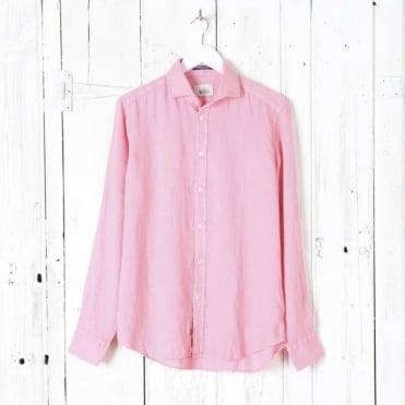 Bradford Linen Cut Away Collar Shirt