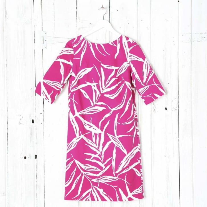 MARCHA HUSKES Bright Bamboo Print Box Dress