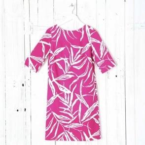 Bright Bamboo Print Box Dress