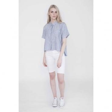 Brynlee Linen Striped Shirt