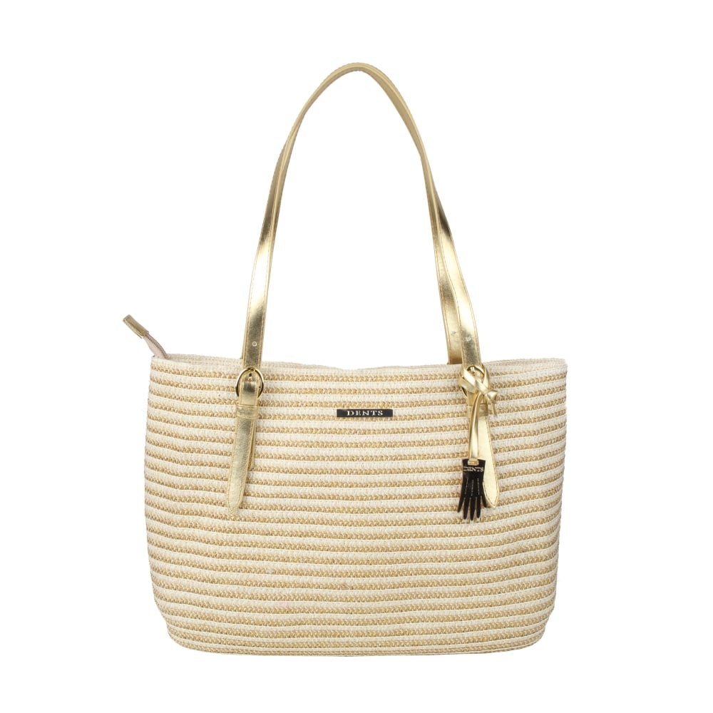 cc30ae4d287 Buttercup Two Tone Metallic Paper Straw Tote