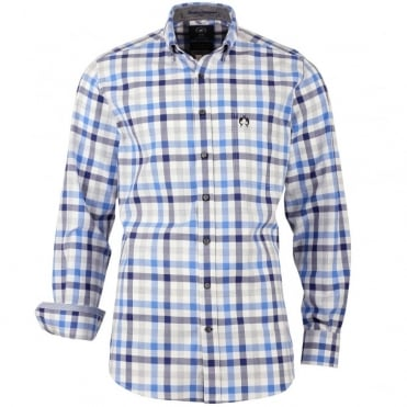 Ice Lake Shirt in Blue Check 1