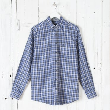 Ice Lake Shirt in Blue Check 2