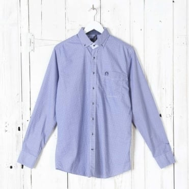 Washer Shirt in Indigo Print