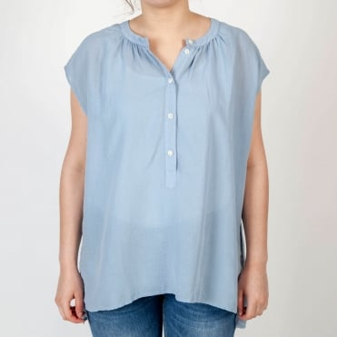 Babel Cotton Pull On Easy Top in Sky Blue