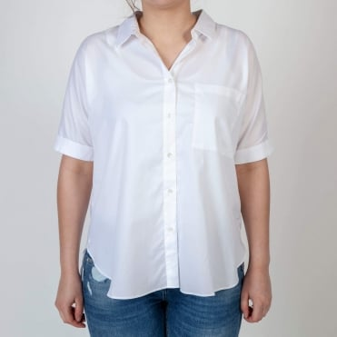 Cleo Crisp White Button Through Shirt