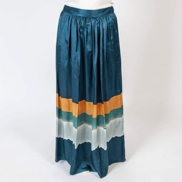 June Tye Dye Skirt with Pockets in Blue