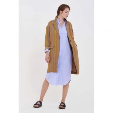 Mustard Stripe Coat