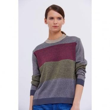 Nina Wool Mix Lurex Zip Knit