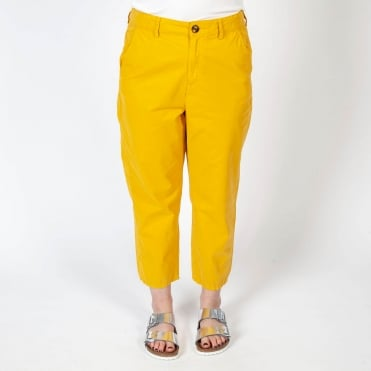 Porto Loose Cotton Slouch Trouser in Yellow
