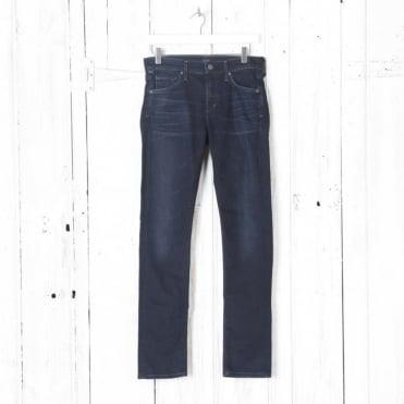 Agnes Mid Rise Slim Straight Jean