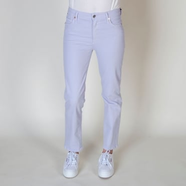 Cara Lilac High Rise Cigarette Pant in Memphis Purple